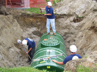 New petroleum oil tank installation in VT & NH